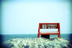No Lifeguard on Duty Royalty Free Stock Images