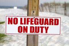 Free No Lifeguard On Duty Stock Photography - 15185572