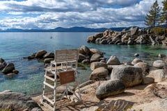 Free No Lifeguard On Duty At Sand Harbor, Lake Tahoe Stock Photography - 175358322