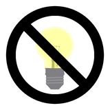 No light symbol. Do not turn on sign Royalty Free Stock Photography