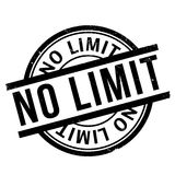 No Limit rubber stamp. Grunge design with dust scratches. Effects can be easily removed for a clean, crisp look. Color is easily changed Royalty Free Stock Photography