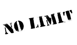 No Limit rubber stamp Royalty Free Stock Image