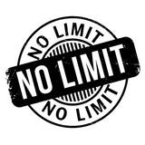 No Limit rubber stamp. Grunge design with dust scratches. Effects can be easily removed for a clean, crisp look. Color is easily changed Royalty Free Stock Images