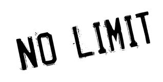 No Limit rubber stamp. Grunge design with dust scratches. Effects can be easily removed for a clean, crisp look. Color is easily changed Stock Photo