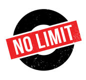 No Limit rubber stamp. Grunge design with dust scratches. Effects can be easily removed for a clean, crisp look. Color is easily changed Stock Photography