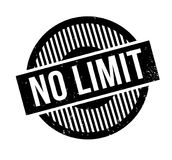 No Limit rubber stamp. Grunge design with dust scratches. Effects can be easily removed for a clean, crisp look. Color is easily changed Stock Photos