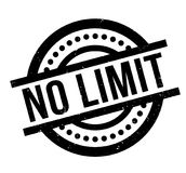No Limit rubber stamp. Grunge design with dust scratches. Effects can be easily removed for a clean, crisp look. Color is easily changed Royalty Free Stock Photos