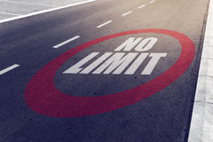 No limit sign on highway Royalty Free Stock Images