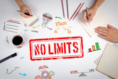 No Limit stamp. The meeting at the white office table Stock Images