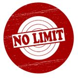 No limit. Stamp with text no limit inside,  illustration Royalty Free Stock Image