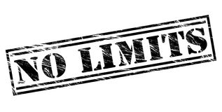 No limits black stamp. Isolated on white background Royalty Free Stock Images