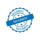 No limits stamp illustration. No limits blue stamp seal illustration design Stock Photo