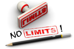 No limits! Corrected seal impression Royalty Free Stock Photography
