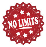No limits cost grunge stamp Stock Images
