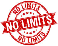 No limits grunge retro red isolated stamp Royalty Free Stock Photo