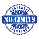 No Limits  Guarantee Stamp with stars. Royalty Free Stock Image