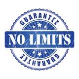 No Limits  Guarantee Stamp with stars. No Limits  Guarantee blue Stamp with stars Royalty Free Stock Image