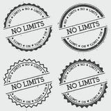 No limits insignia stamp isolated on white. Stock Photo