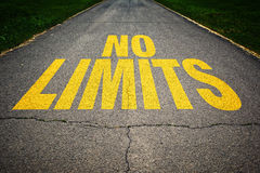 No limits message on the road Royalty Free Stock Photography