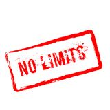 No limits red rubber stamp isolated on white. No limits red rubber stamp isolated on white background. Grunge rectangular seal with text, ink texture and Royalty Free Stock Photo