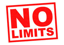NO LIMITS. Red Rubber Stamp over a white background Royalty Free Stock Photography