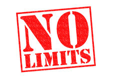NO LIMITS. Red Rubber Stamp over a white background royalty free stock photos