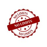 No limits stamp illustration. No limits red stamp seal illustration design Stock Photos