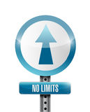 No limits road sign Stock Images