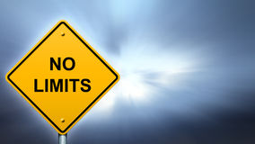 NO LIMITS road sign Stock Photography