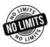 No Limits rubber stamp. Grunge design with dust scratches. Effects can be easily removed for a clean, crisp look. Color is easily changed Stock Photography