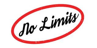 No Limits rubber stamp Royalty Free Stock Photos