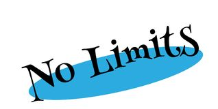No Limits rubber stamp Royalty Free Stock Image