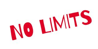 No Limits rubber stamp. Grunge design with dust scratches. Effects can be easily removed for a clean, crisp look. Color is easily changed Stock Image