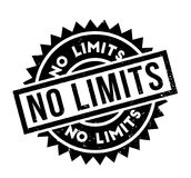 No Limits rubber stamp. Grunge design with dust scratches. Effects can be easily removed for a clean, crisp look. Color is easily changed Stock Photo