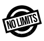 No Limits rubber stamp. Grunge design with dust scratches. Effects can be easily removed for a clean, crisp look. Color is easily changed Royalty Free Stock Images