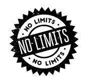 No Limits rubber stamp. Grunge design with dust scratches. Effects can be easily removed for a clean, crisp look. Color is easily changed Royalty Free Stock Image