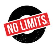 No Limits rubber stamp. Grunge design with dust scratches. Effects can be easily removed for a clean, crisp look. Color is easily changed Stock Images