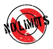 No Limits rubber stamp. Grunge design with dust scratches. Effects can be easily removed for a clean, crisp look. Color is easily changed Royalty Free Stock Photo