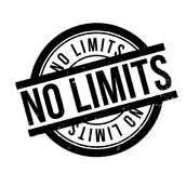 No Limits rubber stamp. Grunge design with dust scratches. Effects can be easily removed for a clean, crisp look. Color is easily changed Stock Photos