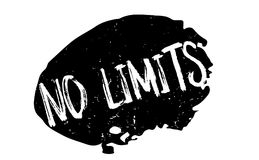 No Limits rubber stamp. Grunge design with dust scratches. Effects can be easily removed for a clean, crisp look. Color is easily changed Royalty Free Stock Photography
