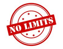 No limits. Rubber stamp with text no limits inside, vector illustration Stock Photography