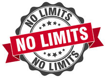 No limits seal. No limits round ribbon seal isolated on white background Royalty Free Stock Image