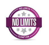 No limits seal stamp illustration design Stock Photography
