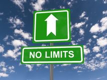 No limits sign Stock Images