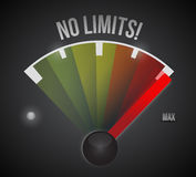 No limits speedometer illustration design Royalty Free Stock Photography