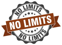 No limits stamp. Sign. seal Stock Image