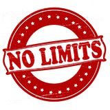 No limits. Stamp with text no limits inside,  illustration Stock Photography