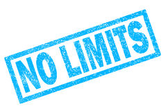 No limits stamp on white background. Stock Photos