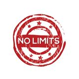 `No limits` vector rubber stamp. Label design ready made template Royalty Free Illustration