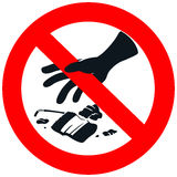 No litter sign in white isolated background. Create by vector Stock Photos